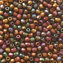 True 2mm Fire Polished, Violet Rainbow - 50